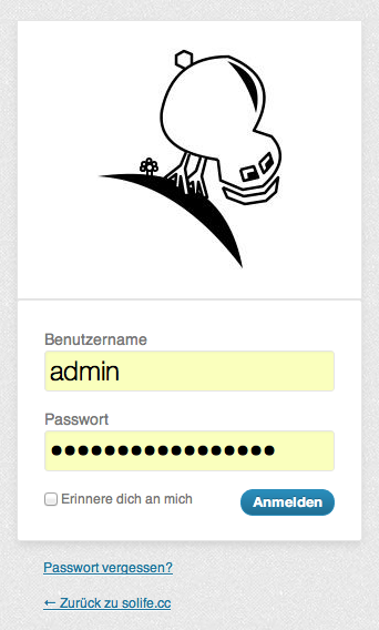 Login Admin Bereich WordPress